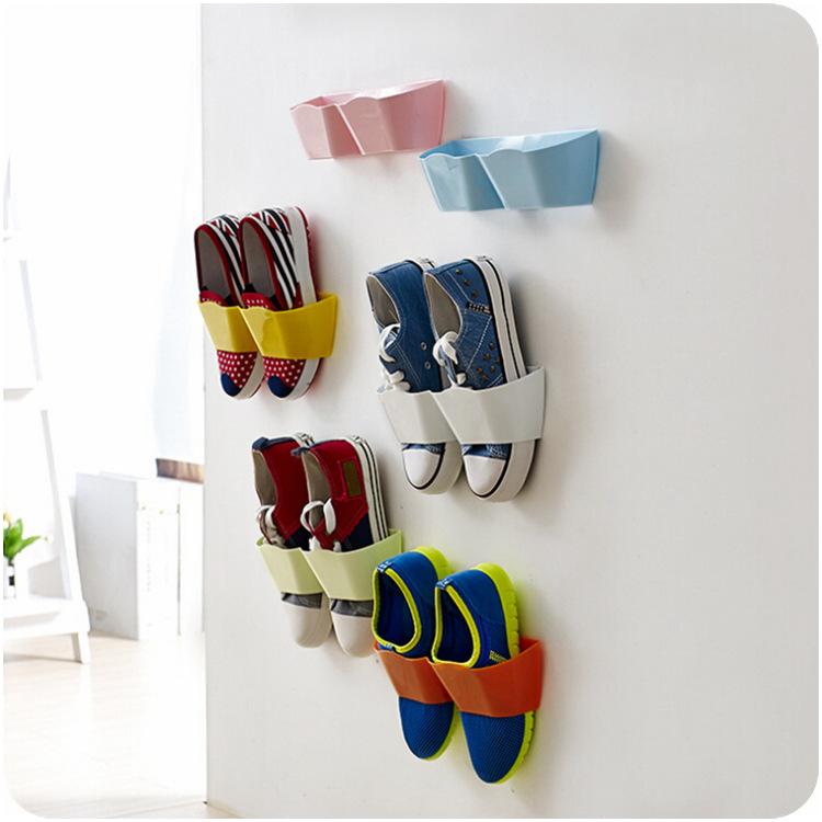 2016 Best Deal Shoe Rack Creative Plastic Shoe Shelf Stand Cabinet Display Shelf Organizer Wall Storage Rack 1pc(China (Mainland))