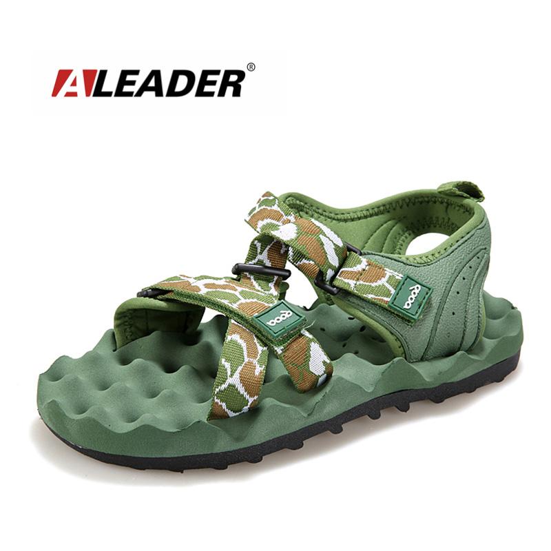 Aleader Mens Summer Sandals New 2016 Breathable Outdoor Beach Sandals Walking Water Shoes Canvas Sport Sandals sandalias hombre