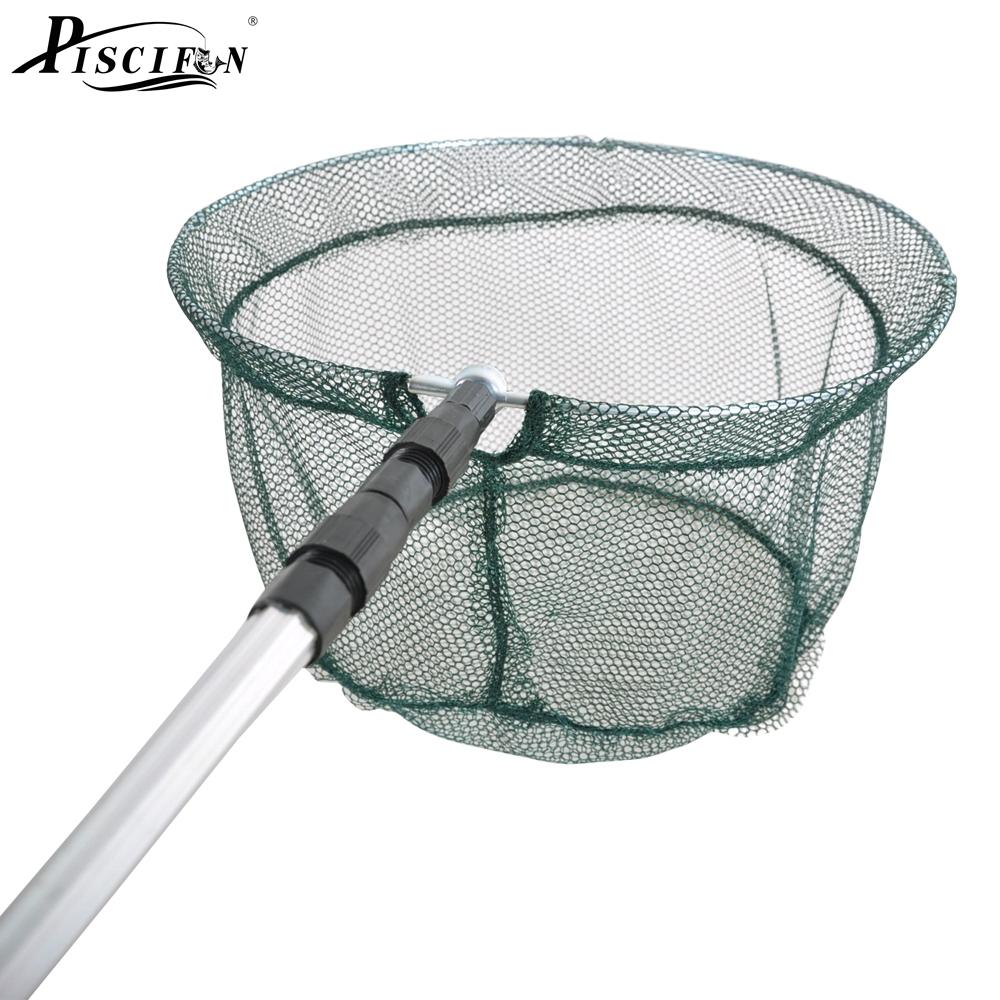 Piscifun 176cm fishing net fishing folding landing net for Throw nets for fishing