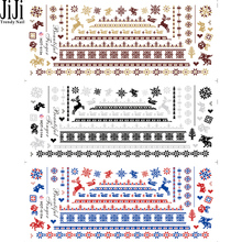 JiJi Trendy Nail 1 sheet Christmas Elk Snowflake Nail Sticker Decorations Beauty Decals Water Nail Art Stikcers HOT013-015(China (Mainland))