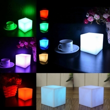 7 Color LED Colorful Changing Mood Cubes Night Glow Lamp Light Gadget Gizmo Home Decor Romantic Lighting(China (Mainland))