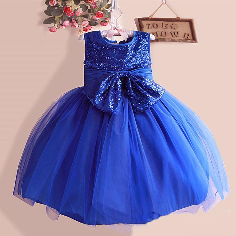 2015 New Autumn Winter Kids Toddler Girl Christmas dress Princess Dress Sleeveless glitter baby Dresses With Bow lace 3-8 year(China (Mainland))