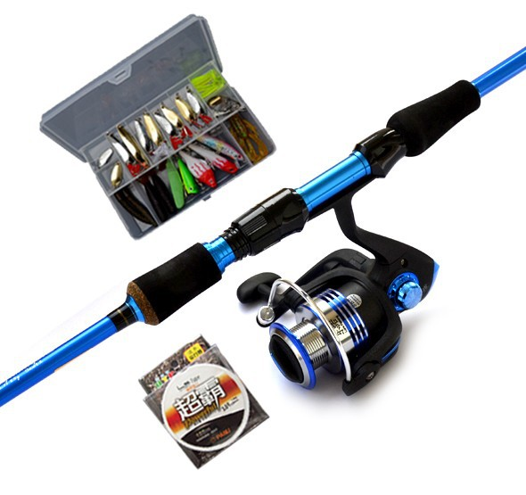 Ems free shipping 2013 new fishing beginner kit 2 1m m m for Good beginner fishing rod