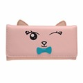 Korean Cute Cat Wallets Women Small Zipper Girl Wallet Brand Designer pu Leather Women Coin Purse