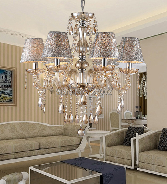White Crystal Lighting Chandeliers Modern Crystal Chandelier For Living Room