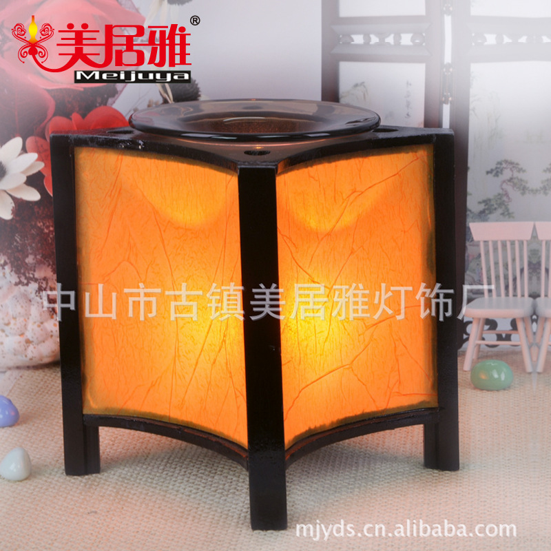 Guangdong factory wholesale Wooden Unplugged fragrance lamp night light and elegant aroma CFL M0228(China (Mainland))