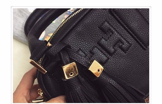 Mini Square Bag Korean&Japan Trendy Tassels Small Handbag Lovel Women Black Shoulder Bag Fashion Casual PU Crossbody Bag
