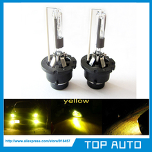 2Pcs/Lot 12V 35W 3000K Yellow Gold D2R HID Xenon Low Beam Replacement Head Light Bulbs Free Shipping(China (Mainland))