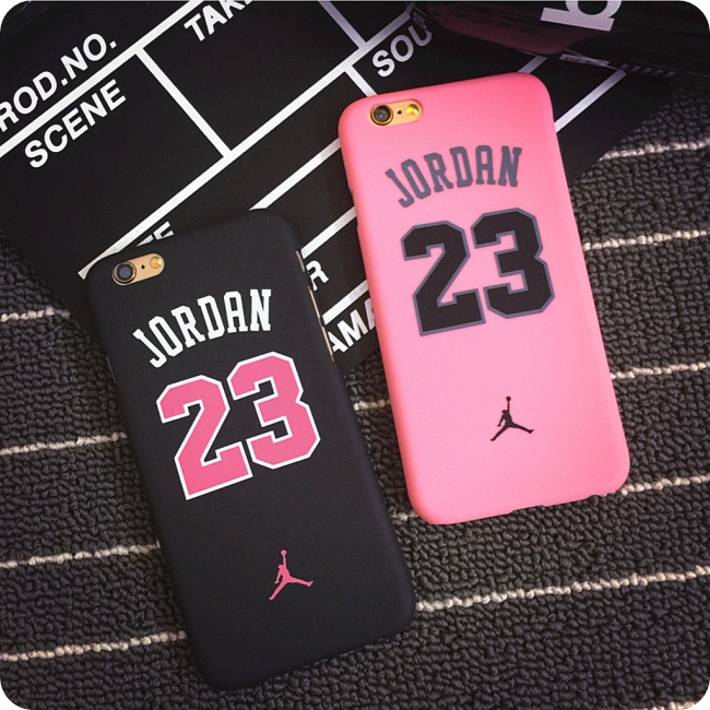 Fashion Jordan 23 Basketball Black Matt PC Back Skinny Cover Case Protector For iphone6/6S 6PLUS 5S/SE Body Protection