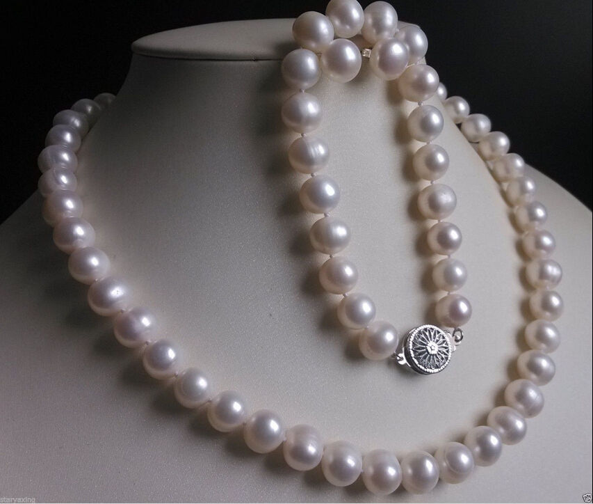 ddh001364 New AA+ 10-11MM White south sea Cultured Pearl Necklace Bracelet Earring Set 18<br><br>Aliexpress