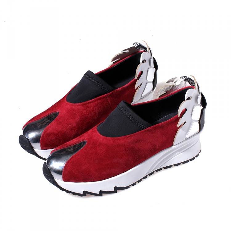 (Blue,red, black) 2016 woman Sheepskin Height Increasing Womens Casual Shoes Mixed Colors Loafers flats for women<br><br>Aliexpress