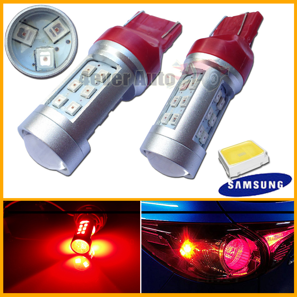 2pcs/lot High Power Ultra-red 21W Samsung LED 7443 7440 LED Bulbs For Turn Signal ,Backup DRL,Free shipping(China (Mainland))