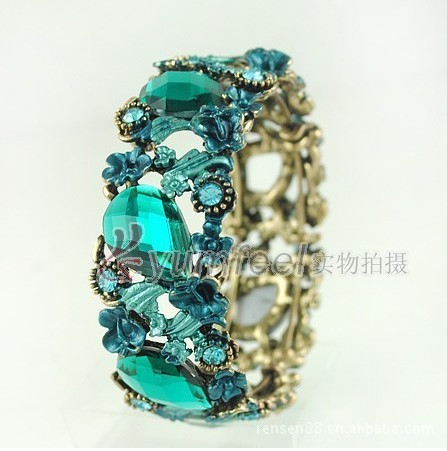 Free Shippin 1 lot/10 piecs European vintage style hollow out jewelry bangle bracelet water drop bangle fashion accessories