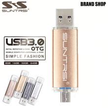 Suntrsi Pendrive 64GB Metal High Speed USB Flash Drive Real Capacity OTG Pen Drive USB Stick 32GB USB Flash Customized USB 3.0(China (Mainland))