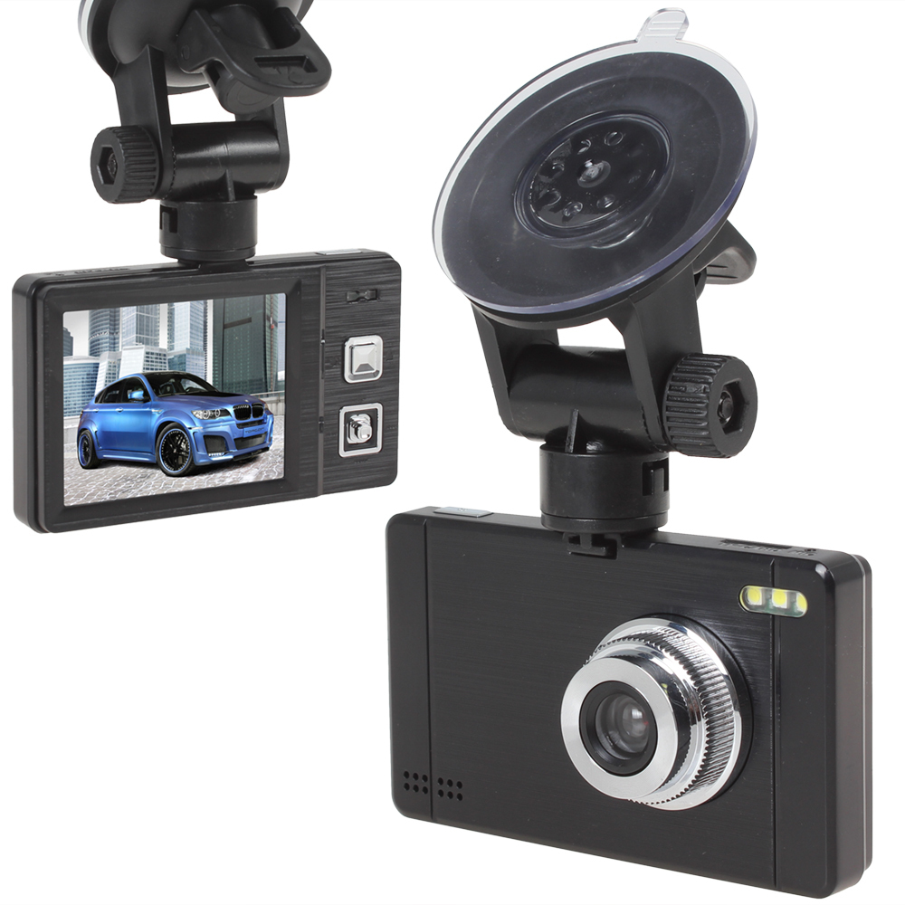 Car DVR HD Portable Mini Car DVR Camera with 2.4 Inch LCD Screen Support Cycle Recording + Motion Detection + IR Night Vision(China (Mainland))