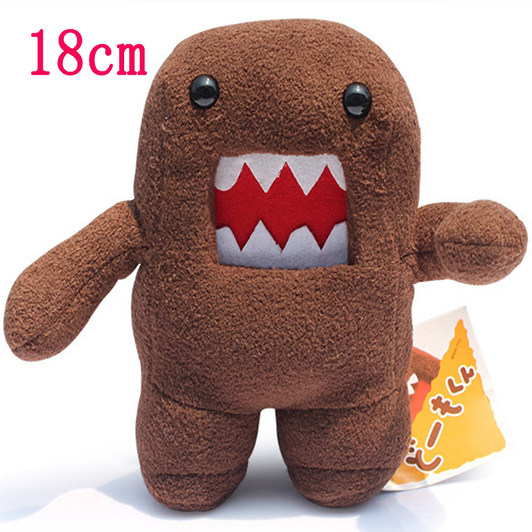 18cm Standing Domo Kun Plush Toy Soft Stuffed Toy Domokun Funny Domo Kun Doll Creative Gift Domo Kun Plush Toys for Kids Party(China (Mainland))