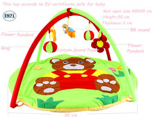 Music Play Game Mat Infant/Baby/kid Educational Toy 3D Activity Gym Developing/Soft Floor Carpet Tapetes Infantis Alfombra BG002(China (Mainland))