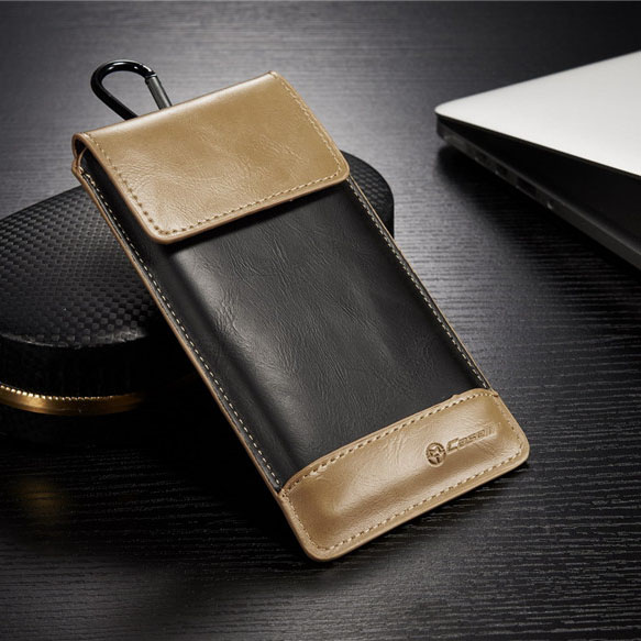 Universal Outdoor Phone Bag Size XL 4.5~5.2inch Original CaseMe Brand Leather Cover for Samsung Galaxy S5(China (Mainland))