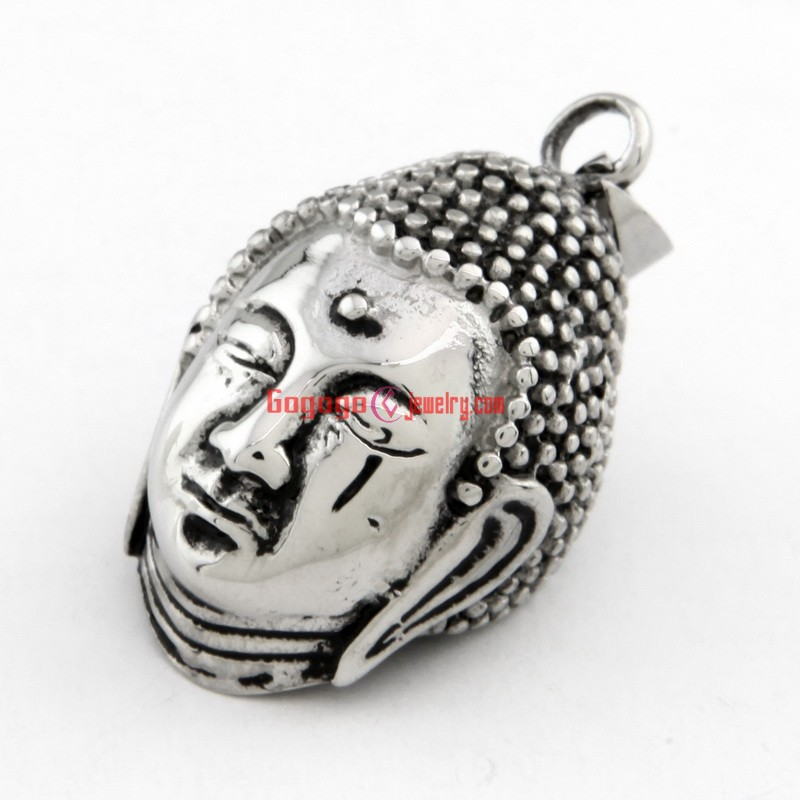 New Cool Design The Buddha Shape Stainless Steel Pendant In Silver ...