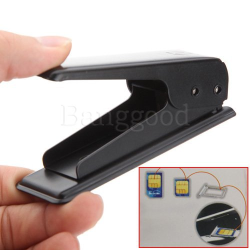 Free Shipping New Black Micro Sim Card Steel Metal Cutter + 4 Free Sim Adapters for iphone 4 4s ipad 3G Galaxy S3 S4 HTC One X(China (Mainland))