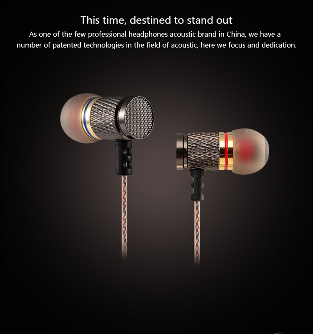 KZ-ED2 Professional In-Ear Earphone Metal Heavy Bass Sound Quality Music Earphone China's High-End Brand Headset With microphone