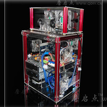 QDIY PC-C004LQ can Install 320mm Graphics Card Transparent Acrylic Water-cooling Computer Case Chassis(China (Mainland))