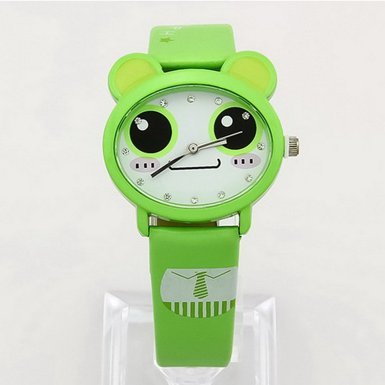 bicycle fashion women pattern cartoon watches kids gifts casual clock brand girls leather quartz vintage watch wristwatches