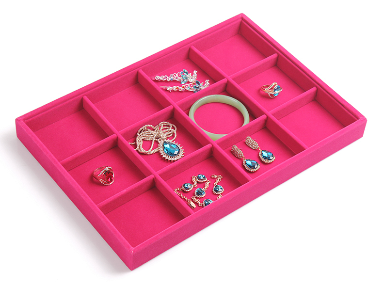 A251-3 Rose red 12 grids bracelet bangle display storage no cover 35*24*3 cm 400g ,please keep dry(China (Mainland))