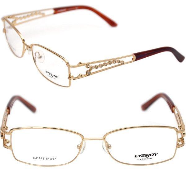 Glasses Frames With Names : Name brand eyeglasses Eyesjoy EJ1143 Gold Ladies ...