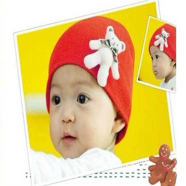 Deschutes Cute Standing Bear Baby Cotton Hat Cartoon Infant Cap(China (Mainland))