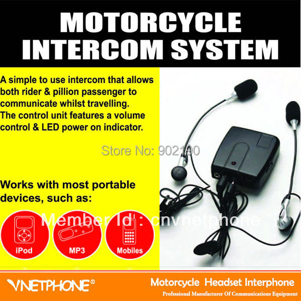 Wholesale good quality motorcycle/bicyle riders in-ear style wired interphone(China (Mainland))