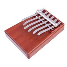 D1U# Portable 6 Key Kalimba Mbira Likembe Sanza Finger Thumb Piano Rosewood Musical Instrument Pocket Piano Gifts Free Shipping(China (Mainland))