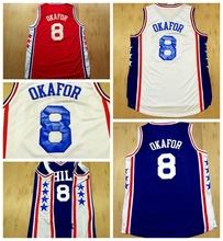 Jahlil Okafor Philadelphia Jersey,Philadelphia #8 Jahlil Okafor Basketball Jerseys ,White Red Blue Color,Cheap Basketball Jersey(China (Mainland))