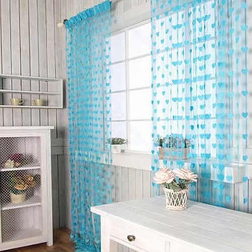 Hot Sales Cute Heart Line Tassel String Door Curtain Window Room Divider Curtain Valance