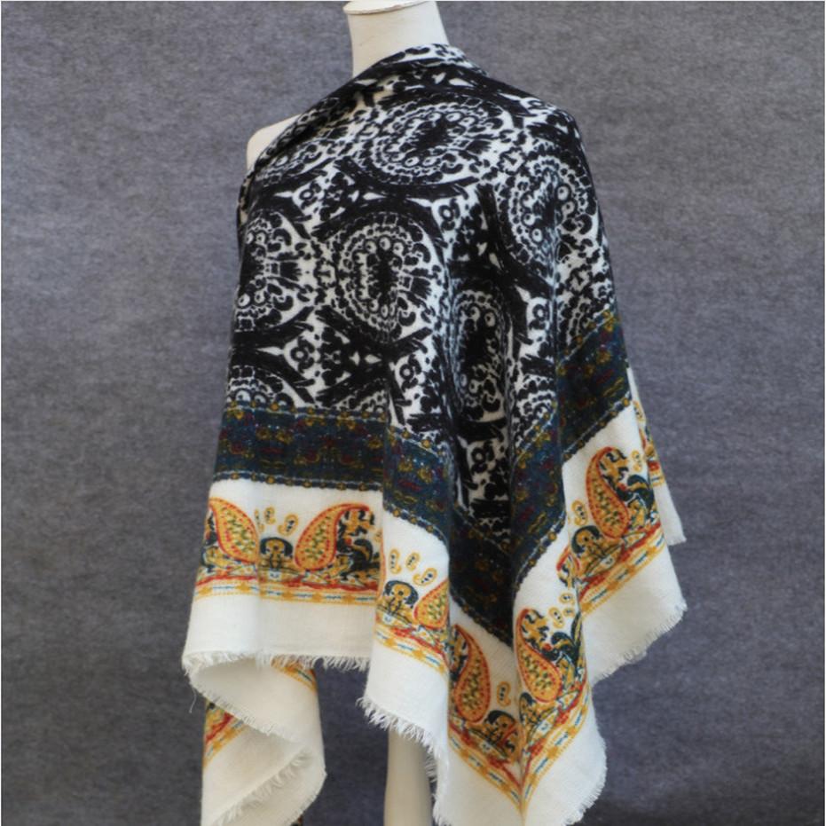 Winter Scarf 2016 Luxury Brand font b Tartan b font Cashmere Scarf Women Wool print Blanket