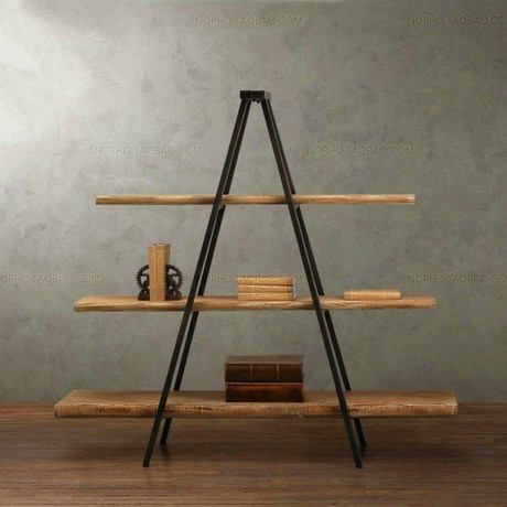 American country home creative retro living room display racks do the old wood bookcase shelves exhibition stand(China (Mainland))