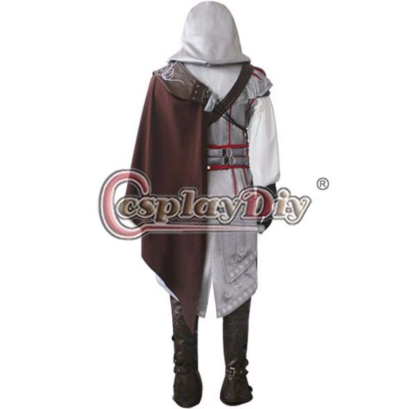 Assassins Creed II Ezio Auditore da Firenze Cosplay Costume Adult Men's Halloween Outfit