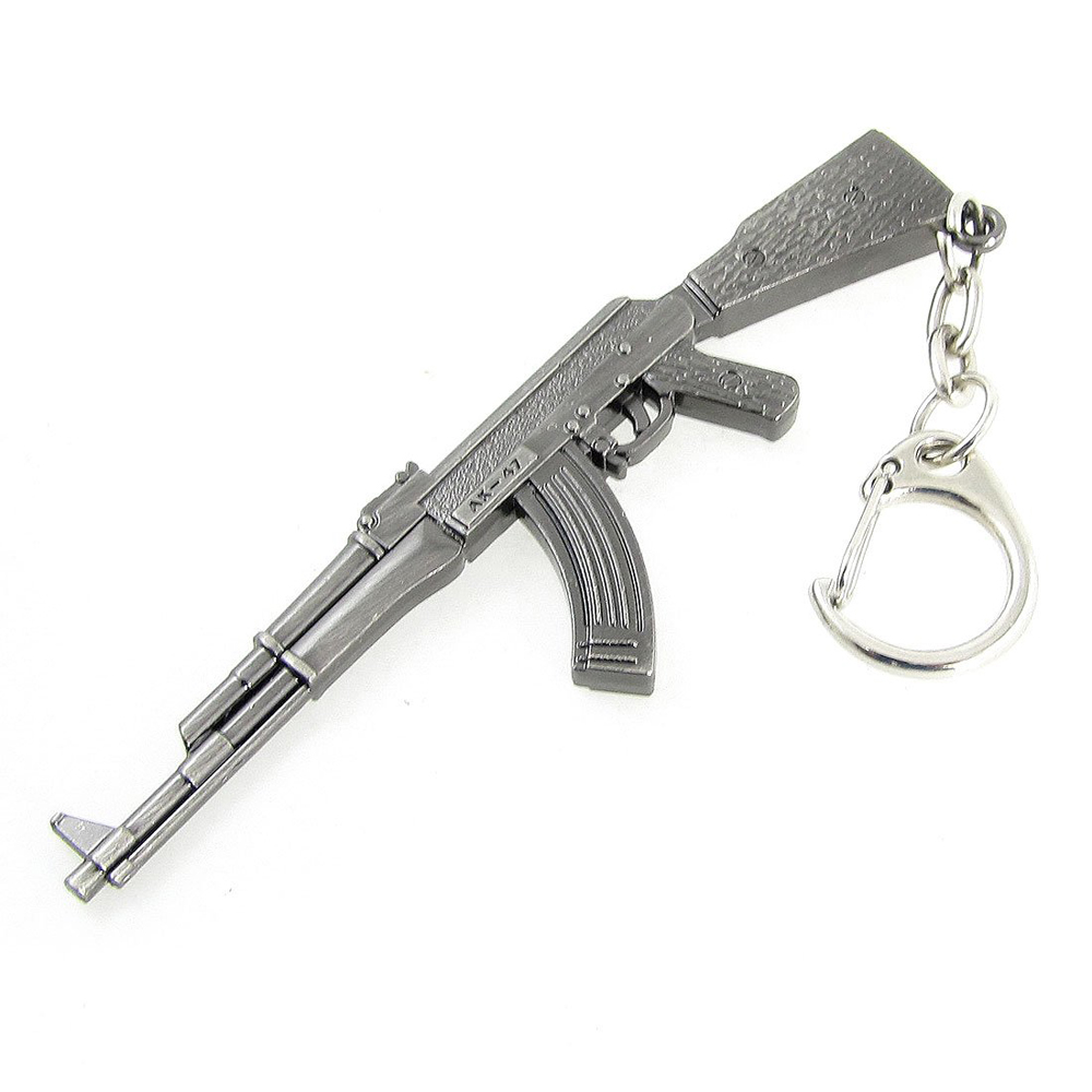 Гаджет  2015 New Miniature AK-47 Rifle Gun Model Lobster Hook Keychain Pendant Gray None Изготовление под заказ