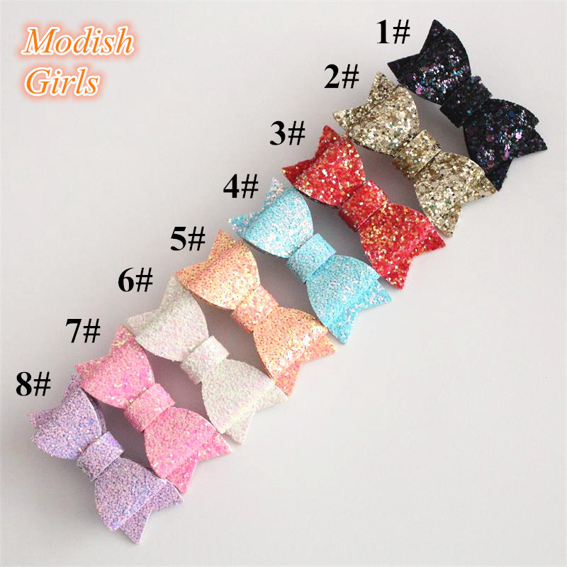 New Glitter Luxury Quality 20pcs/lot Glitter Bow Hair Clips Baby Girls&Sequins Bestseller Glitter Felt Bowknot Baby Hairpins(China (Mainland))