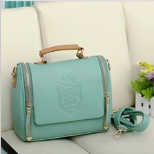 2015 New Arrival women cross body bag Barrel-shaped Pu  women shoulder bag Messenger Bags(China (Mainland))