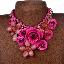 New Design Spring 2015 Gold Chain Choker Necklace & Pendant Charm Luxury Jewelry Wholesale Statement Necklace(China (Mainland))