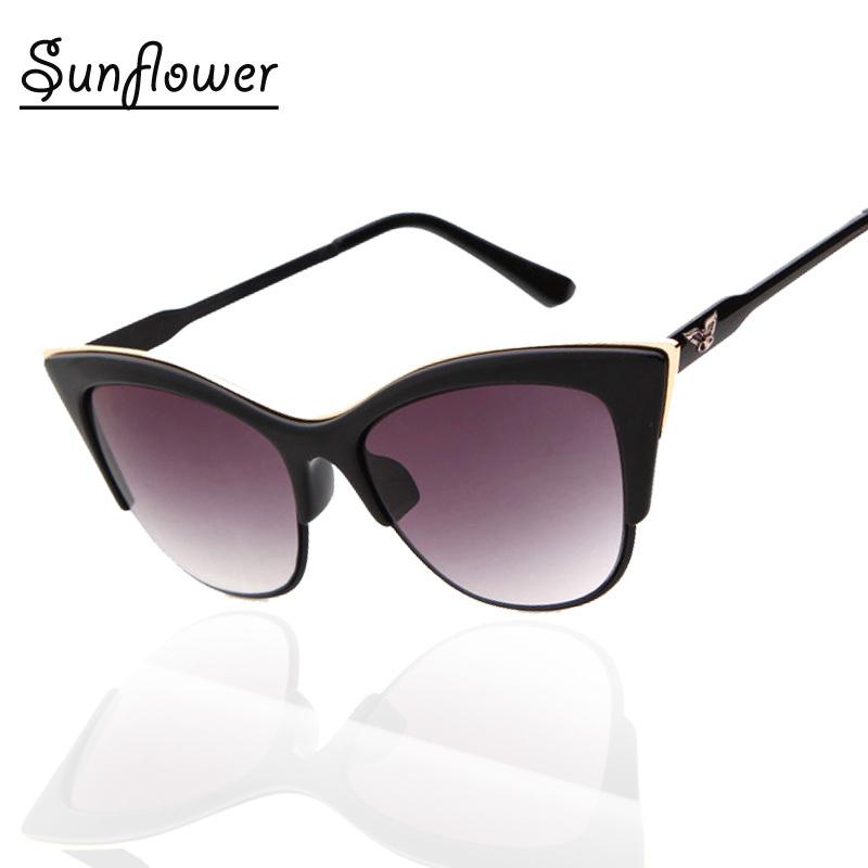 Super cool Eagle Logo Shop Sunglasses Women brand designer Cat Eye Sun Glasses sunshades eyewear gafas de sol de marca(China (Mainland))