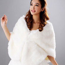New winter spring white wedding shawls bridal wedding fur Cape warm jacket wrap. style n 446(China (Mainland))