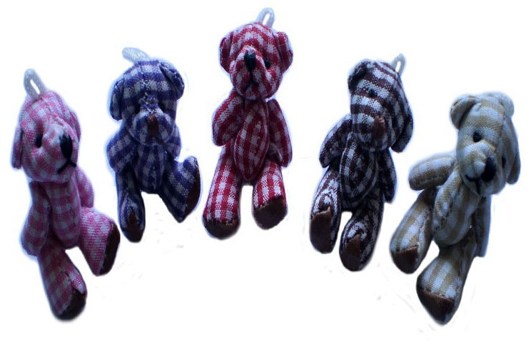 Wholesale 50pcs newest colorful Teddy bear flush baby toys. Soft Puppy Child Favor ,4CM(China (Mainland))