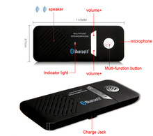 Free Shipping Wireless Handsfree Bluetooth Car Kit Speakerphone with car charger Bluetooth Smartphone Car Multipoint Speaker(China (Mainland))