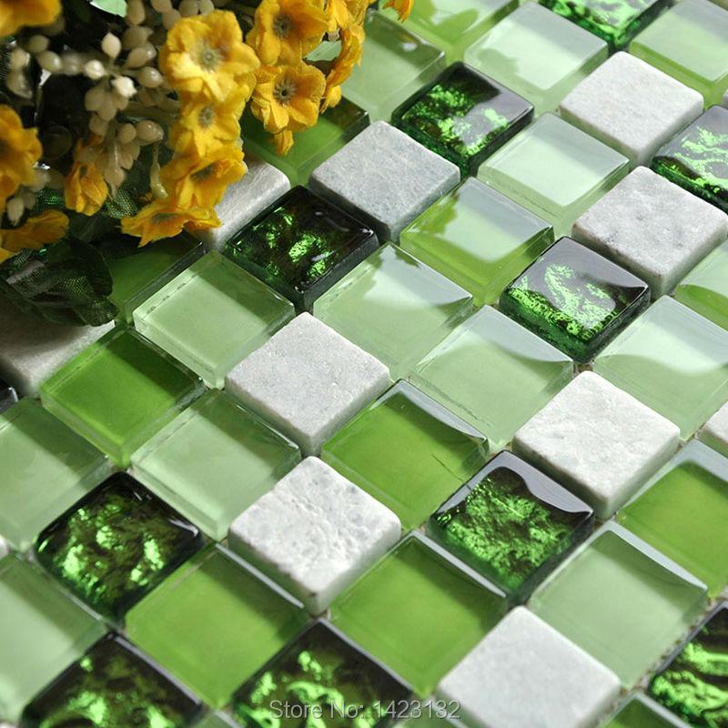 Crystal glass tile backsplash kitchen pink glass stone blend mosaic tiles bathroom ...