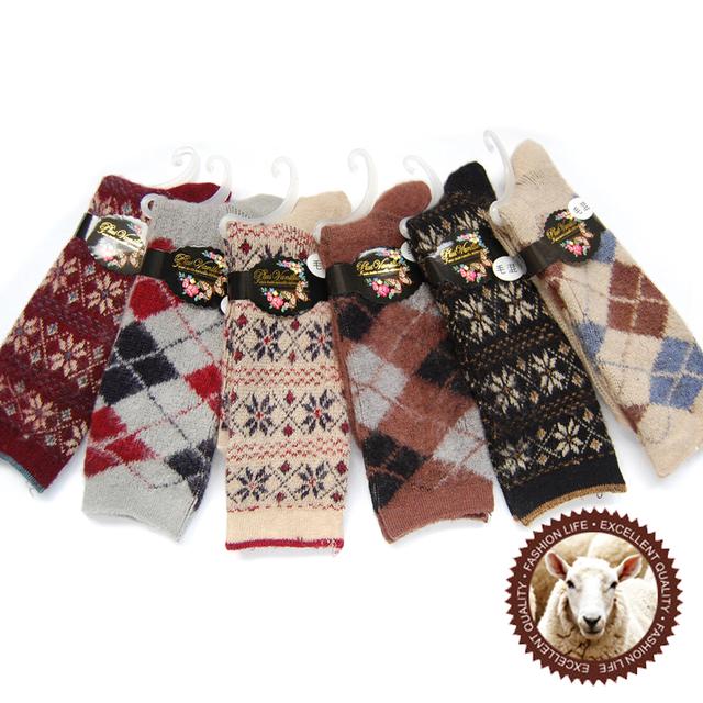 Luxury super soft plush women's jacquard wool socks send girlfriend gifts ww05 laopo