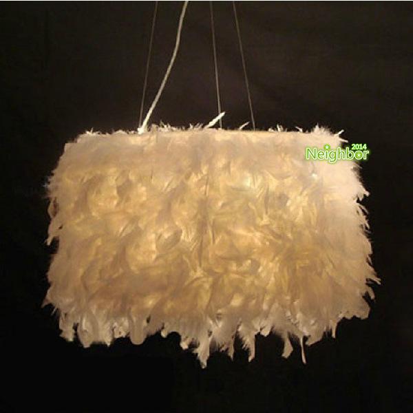 modern white feathers pendant lights suspension lamp. Black Bedroom Furniture Sets. Home Design Ideas
