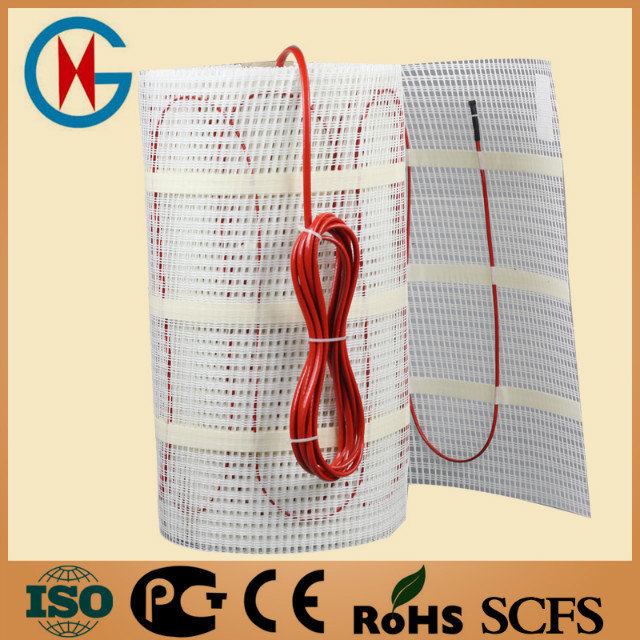 free shipping floor heating cable mat for home heating system in high quality 0.5*20m 100w/sqm 10 sqm(China (Mainland))