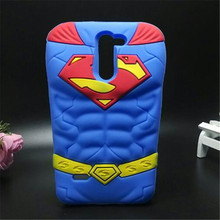 3D Cartoon Cover Chest muscle Blue Superman soft Silicone cell phone Case LG G3 stylus D690N D690 - Consumer Electronics Accessories Store store